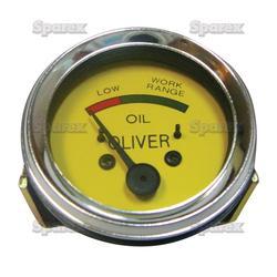 Oil Pressure Gauge (0-50 psi) - Oliver SUPER 44, SUPER 55, 66, SUPER 66, 77, SUPER 77, 88, SUPER 88