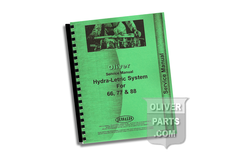 Service Manual - Oliver Hydra-Letric System For 66, 77, & 88