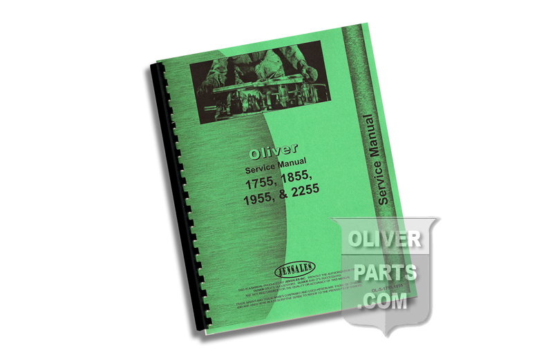 Service Manual - Oliver 1755, 1855, 1955, & 2255.  High quality reproduction, hundreds of pages and hundreds of illustrations.
