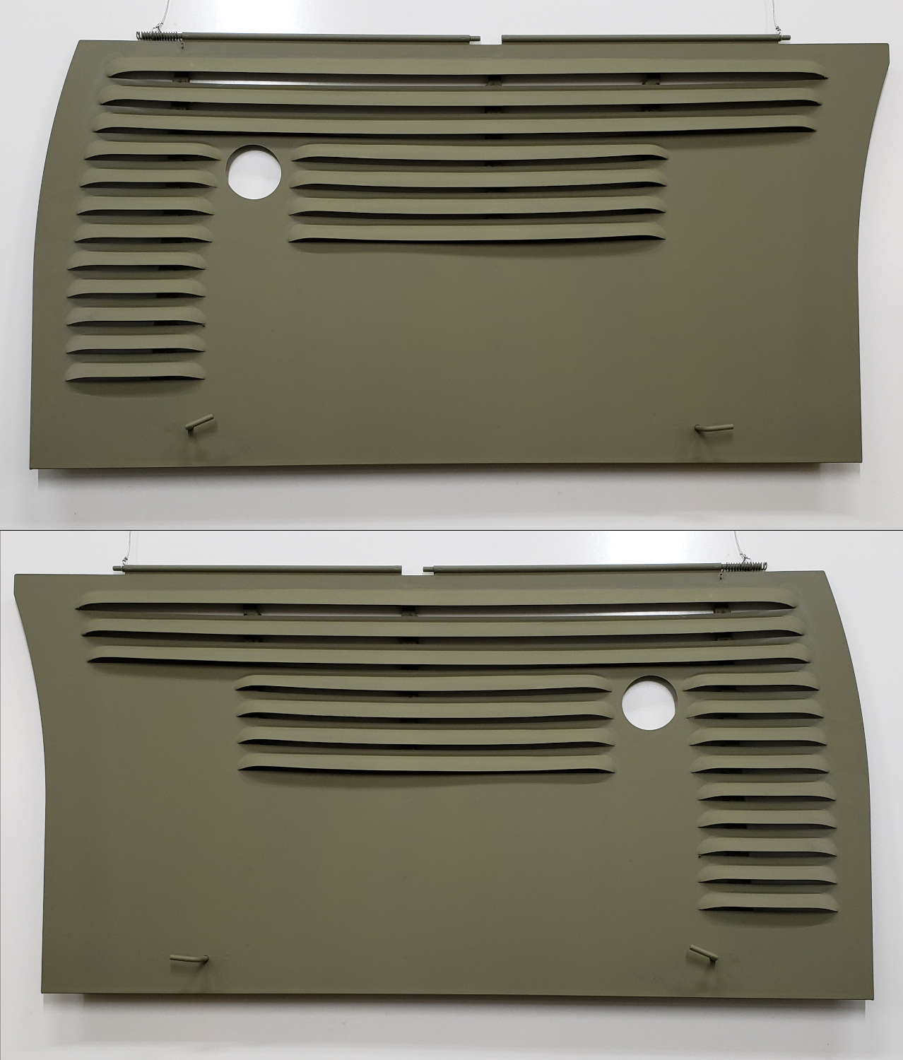 Pair Louvered 3 timing gear Engine Front Side Panels - 70 Row Crop