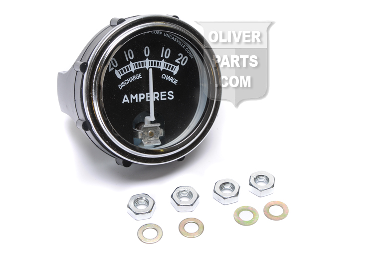 Replacement ammeter gauge with chrome bezel for your oliver tractor!