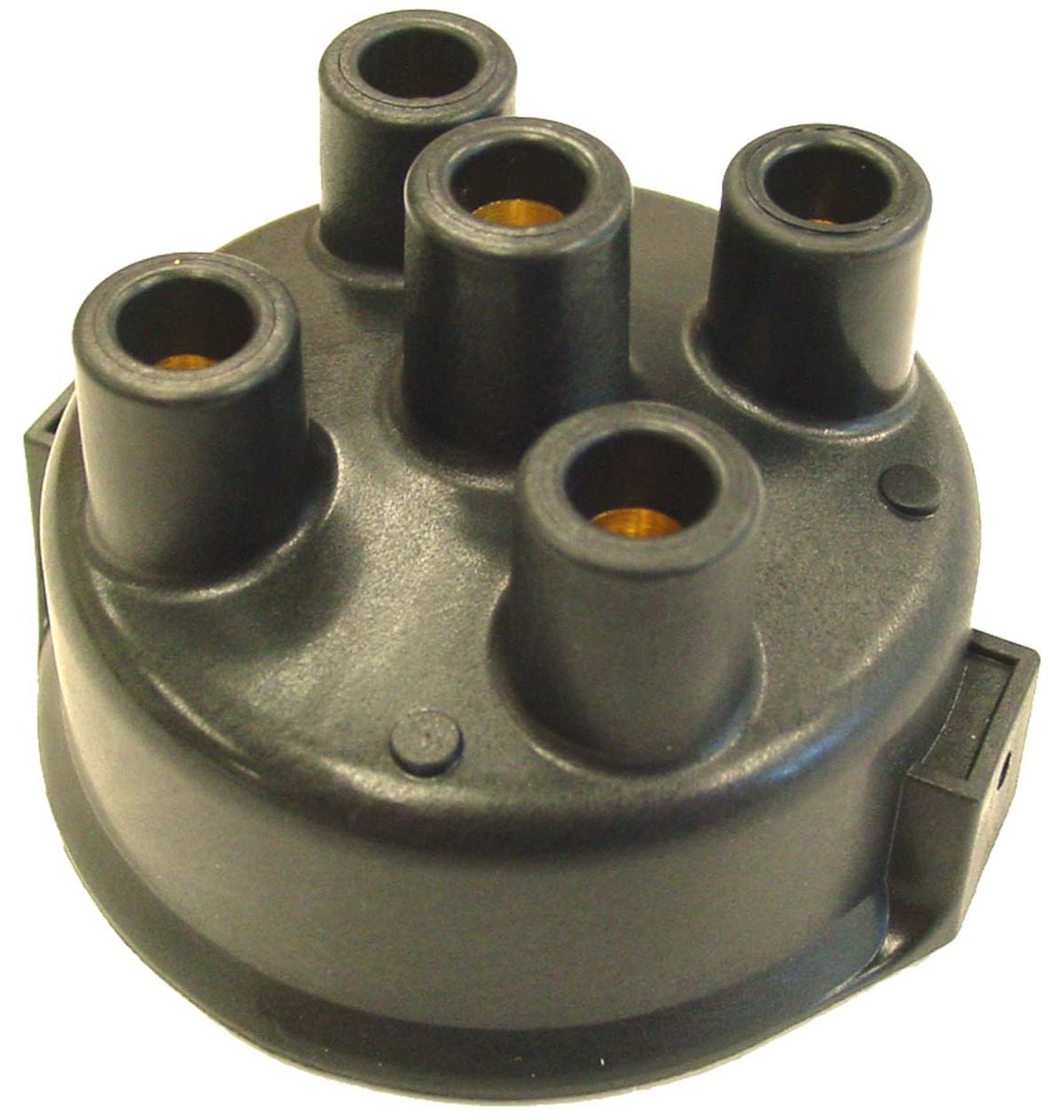 Delco style distributor cap for 4 cylinder tractors. Includes Oliver models: SUPER 44, 440, 60, SUPER 55, 550, 66, SUPER 66, 660, 70, 77, SUPER 77, 770, 88, 880, 90, 99, 1600, 1800 (UP TO SN 124395), H6, OC3 --- DELCO REMY DISTRIBUTORS MUST HAVE CLIP HELD CAP THRU 1963