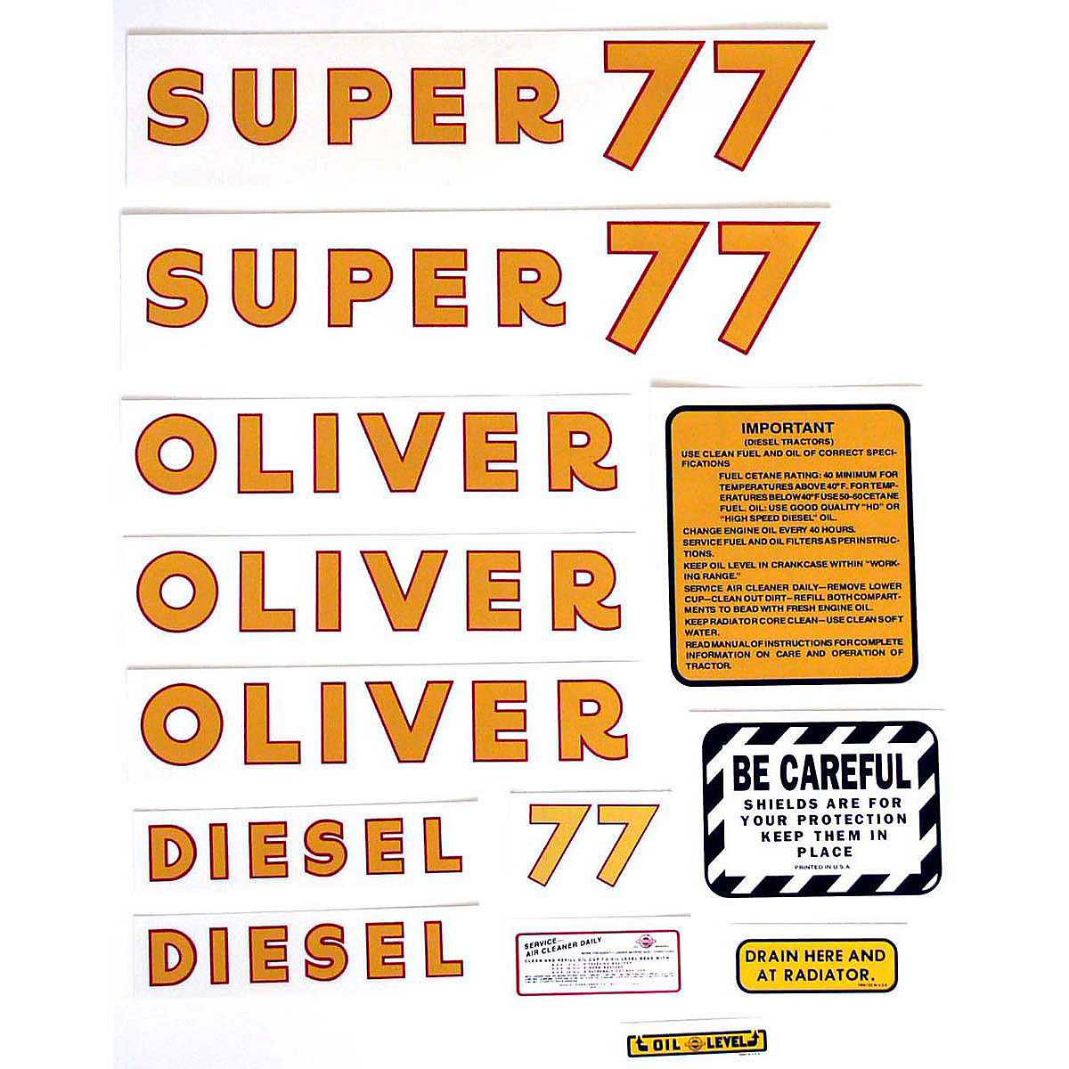 Oliver Super 77 Diesel With Yellow Numbers.