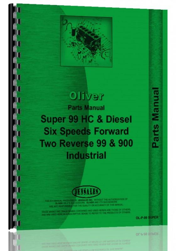 Parts Manual-Oliver Super 99