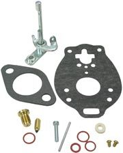 Fits Oliver: 60 Dimensions  MAKE SURE THAT YOUR CARBURETOR MANUFACTURER NUMBER IS IN THE LIST THIS FITS!   CONTAINS: THROTTLE SHAFT, NEEDLE & SEAT, FLOAT LEVER PIN, CHOKE
