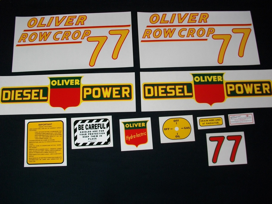 Fits: 77 (Rowcrop DIESEL - YELLOW NUMBERS) Caution: Inspect all decal pieces before applying to the tractor. We cannot offer a refund on mylar decals if they have been applied and/or if they are damaged. Store these tractor decals in a cool, dry place. Do not soak these mylar tractor decals in water. Detailed application instructions are included with each decal set. Please follow the appropriate instructions for your tractor decal set.