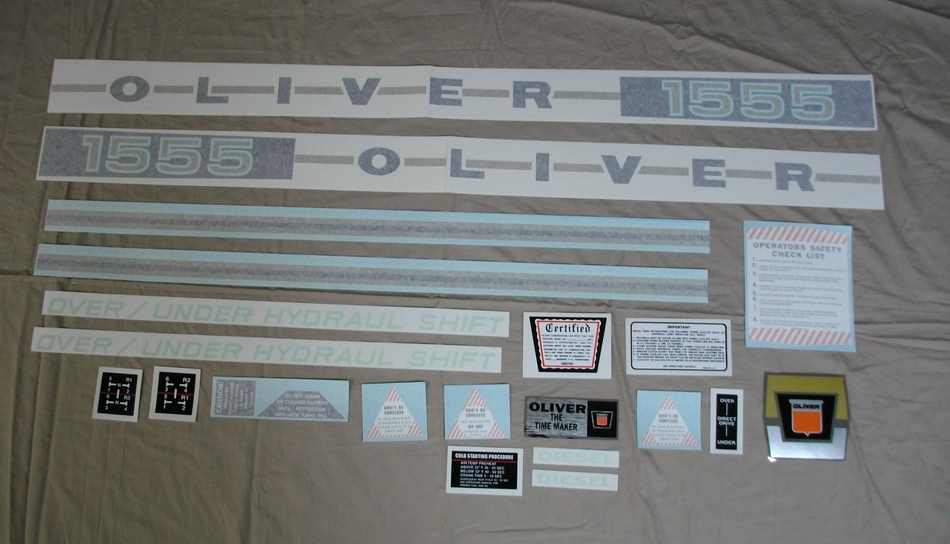 1555 Oliver Diesel Decal Set