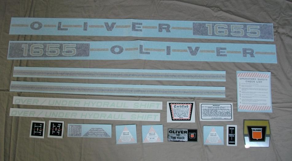 1655 Oliver Decal Set