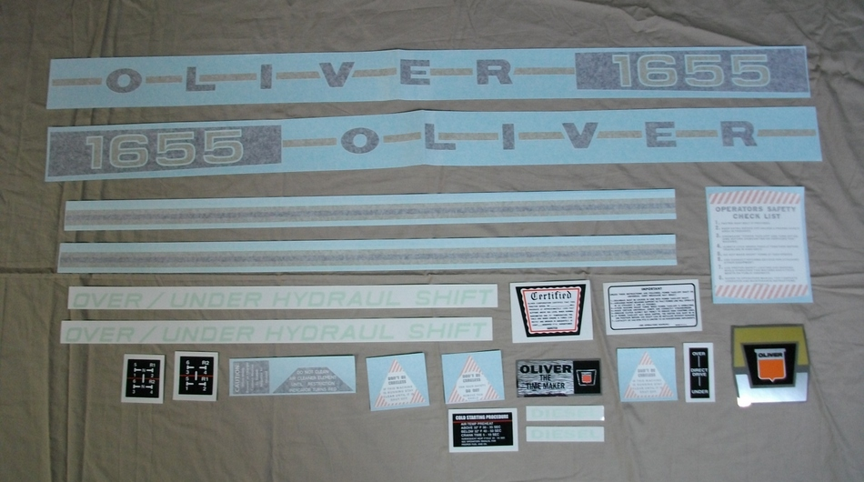 1655 Oliver Diesel Decal Set