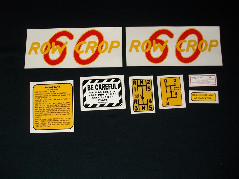 60 Row Crop Vinyl Decal Set