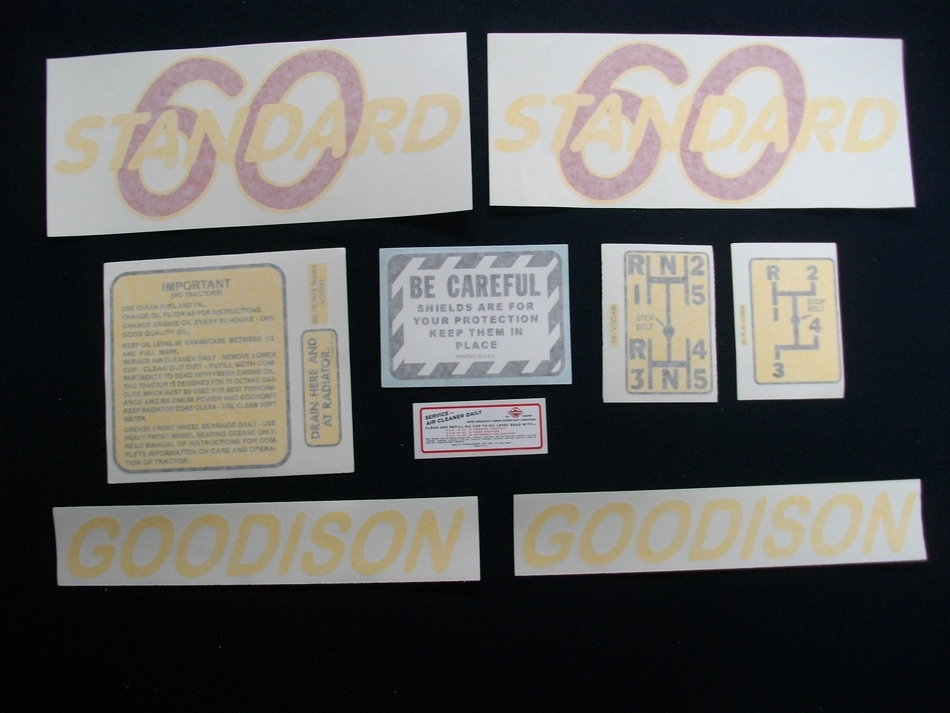 60 Standard Goodison Decal Set