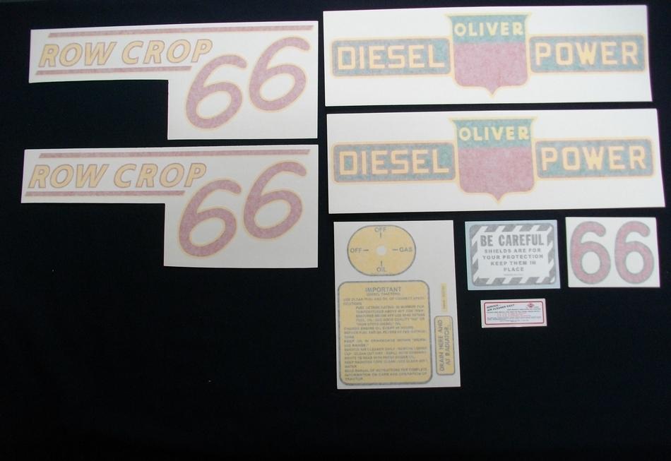 66 Row Crop Diesel Red # (Vinyl Decal Set)