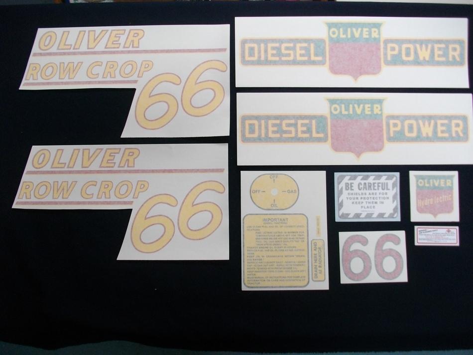 66 Row Crop Diesel Yellow # (Vinyl Decal Set)