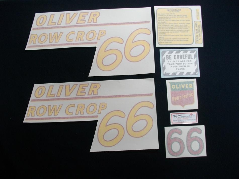 66 Row Crop Yellow # (Vinyl Decal)