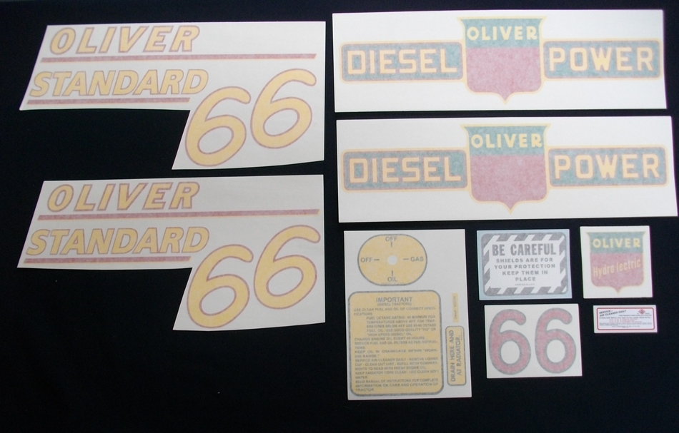 66 Standard Diesel Yellow # (Vinyl Decal Set)