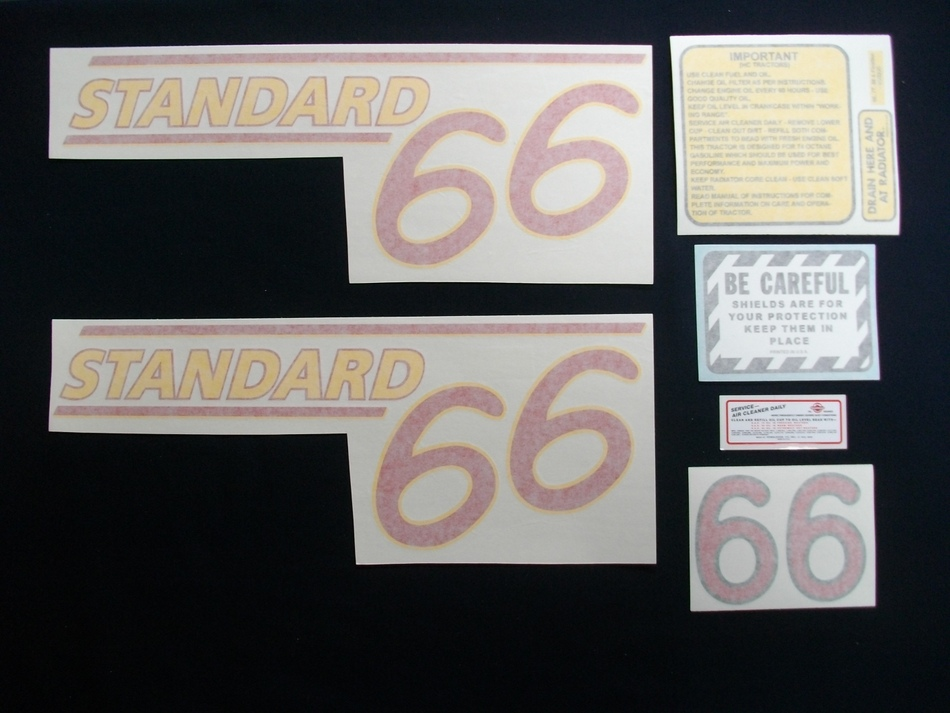 66 Standard Red # (Vinyl Decal Set)