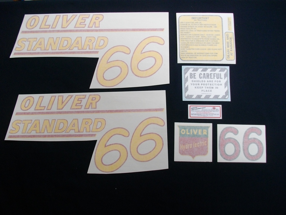 66 Standard Yellow # (Vinyl Decal Set)