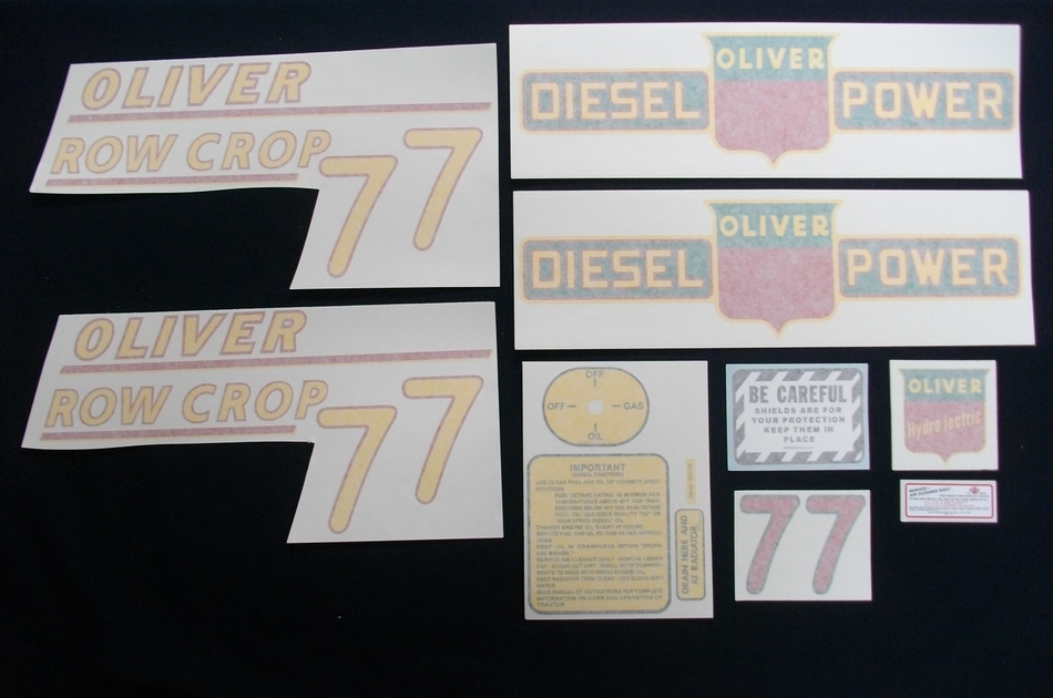 77 Row Crop Diesel Yellow # (Vinyl Decal Set)