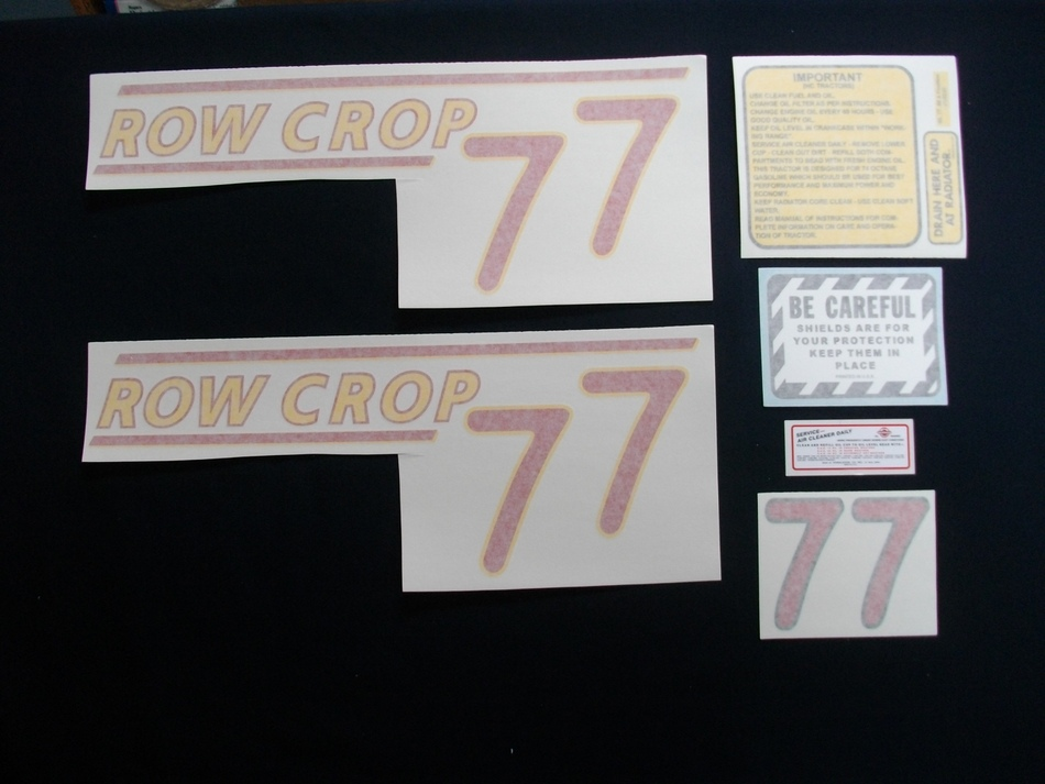 77 Row Crop Red # (Vinyl Decal Set)