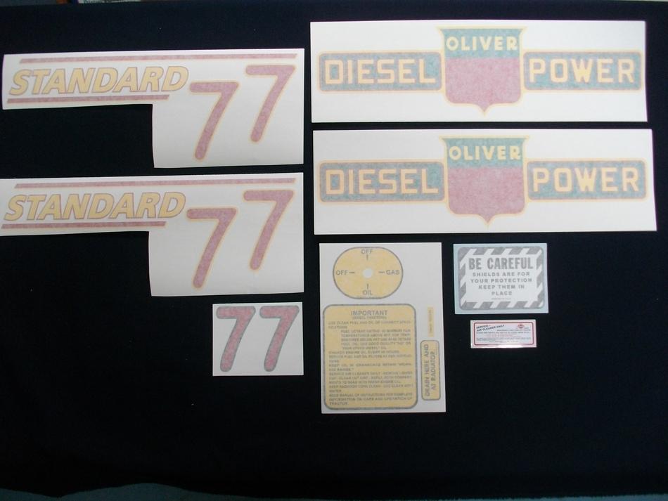 77 Standard Diesel Red # (Vinyl Decal Set)