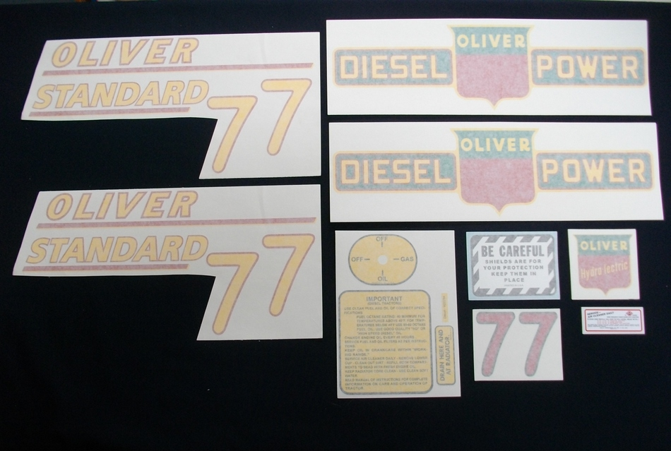 77 Standard Diesel Yellow # (Vinyl Decal Set)