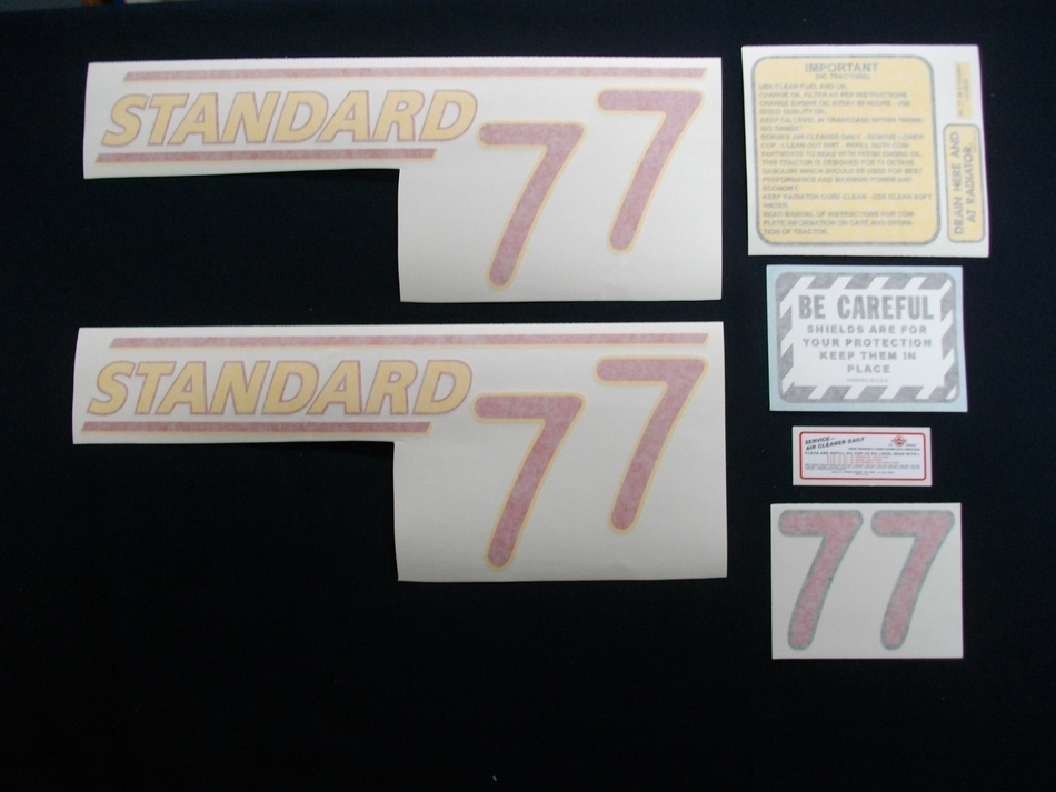 77 Standard Red # (Vinyl Decal Set)