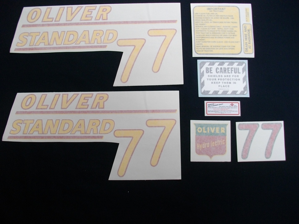 77 Standard Yellow # (Vinyl Decal Set)