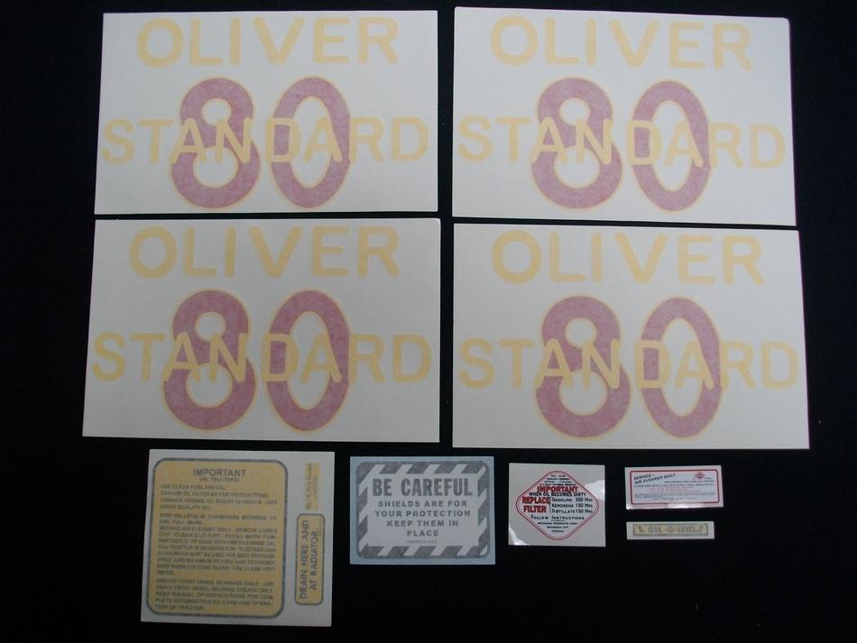 80 Standard Vinyl Decal Set