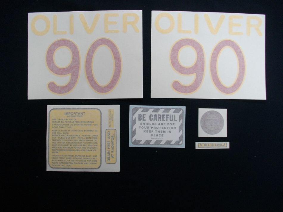 90 Oliver (Vinyl Decal Set)