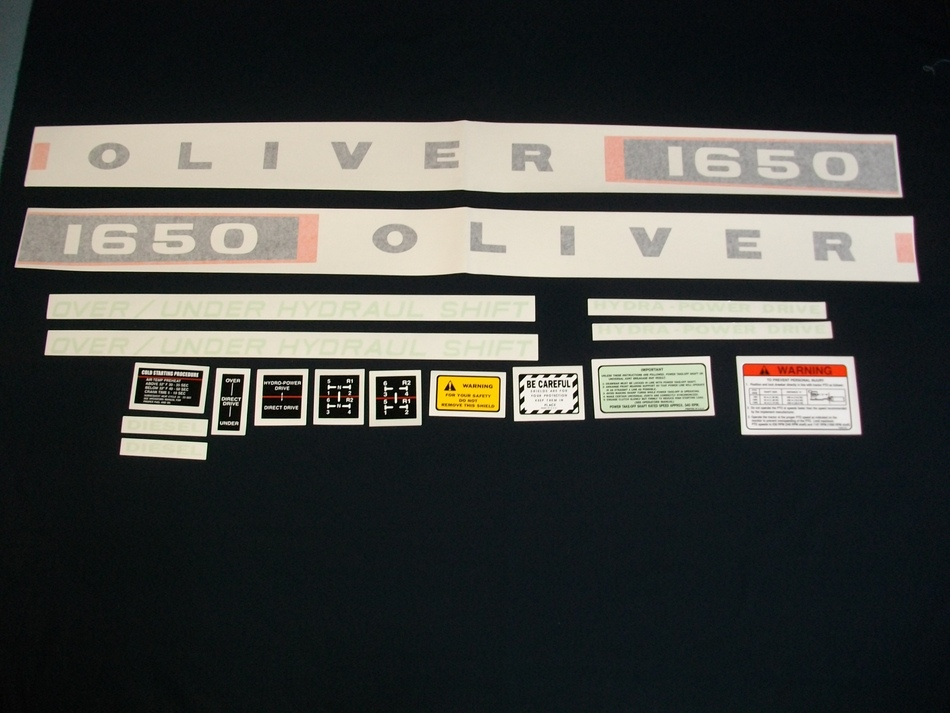Oliver 1650 Diesel (Vinyl Decal Set)