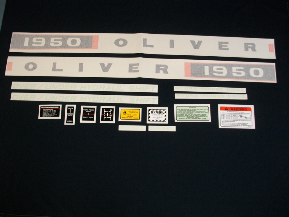 Oliver 1950 Diesel (Vinyl Decal Set)