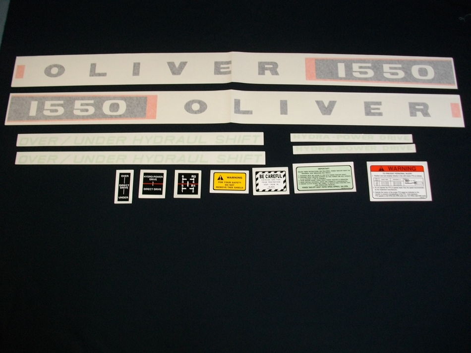 Oliver 1550 (Vinyl Decal Set)