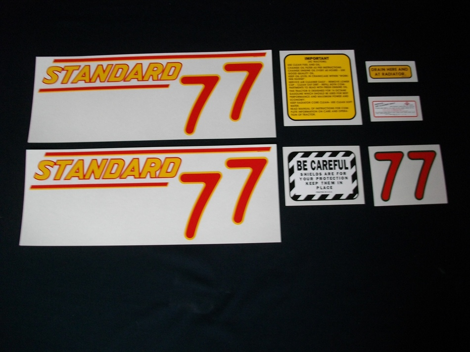 Oliver 77 Standard Red (Mylar Decal Set)