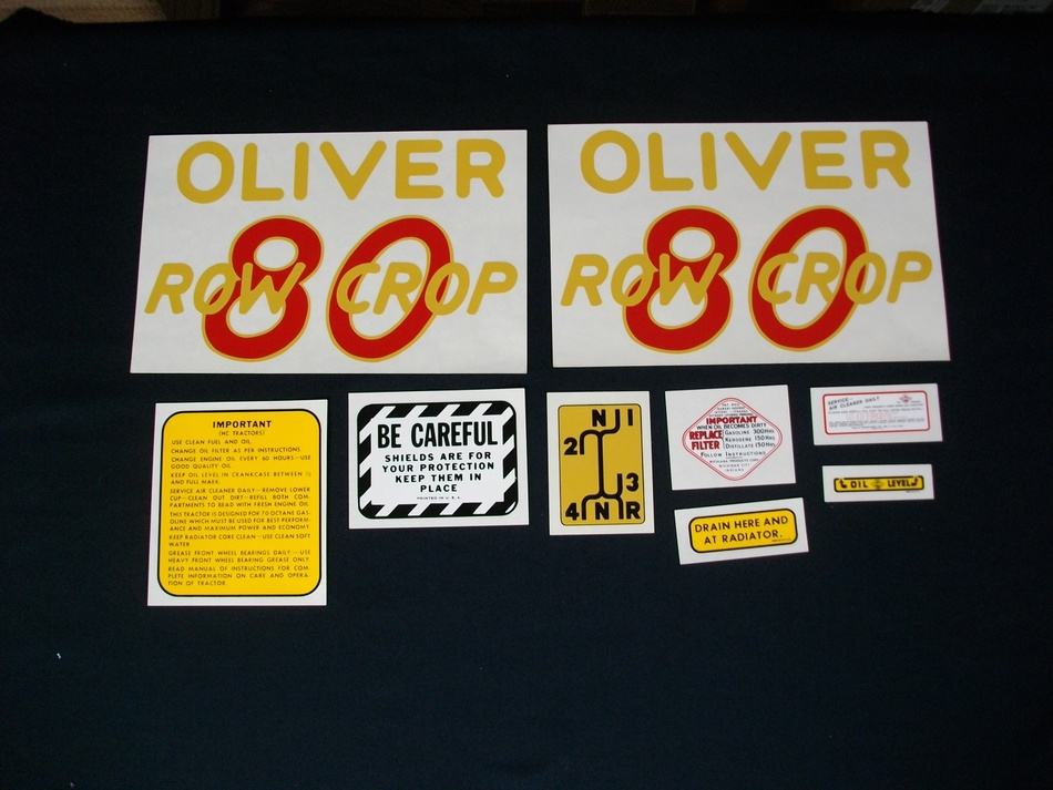 Oliver 80 Row Crop (Mylar Decal Set)