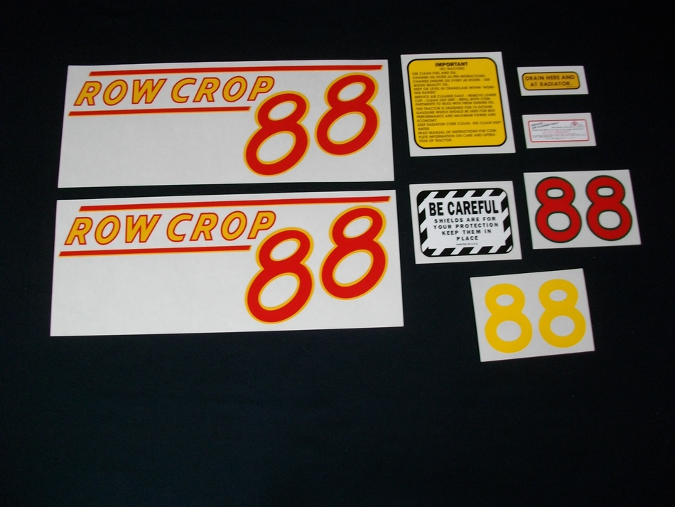 Oliver 88 Row Crop Red (Mylar Decal Set)