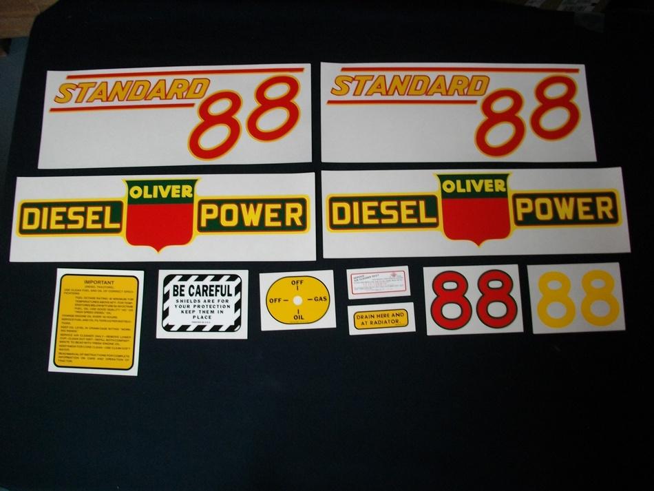 Oliver 88 Standard Diesel Red (Mylar Decal Set)