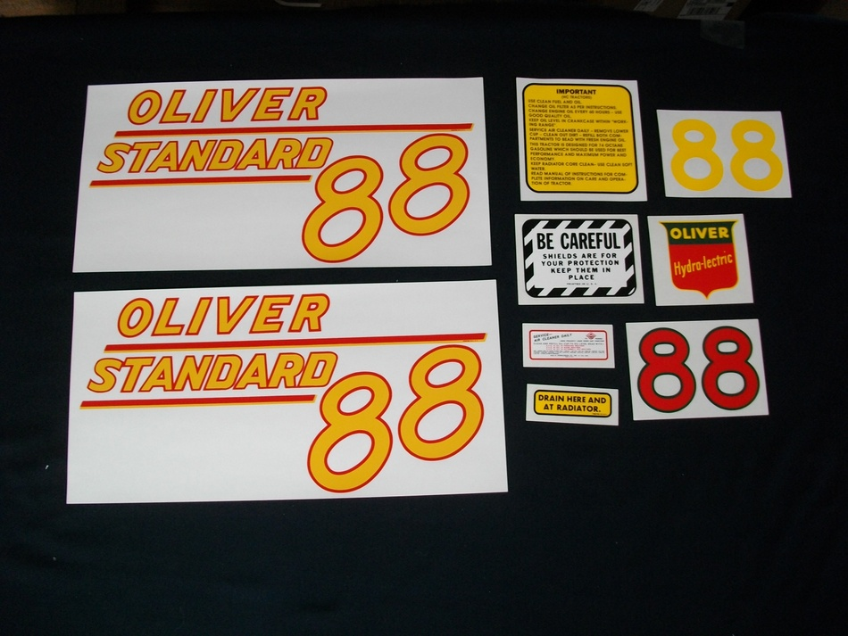 Oliver 88 Standard Yellow (Mylar Decal Set)