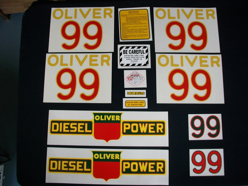 Oliver 99 Diesel (Mylar Decal Set)