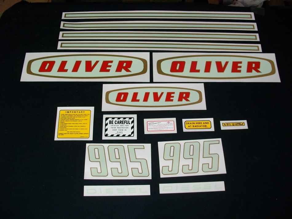 Oliver 995 Diesel (Mylar Decal Set)