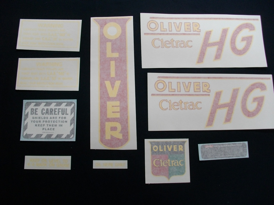Oliver Cletrac HG (Vinyl Decal Set)