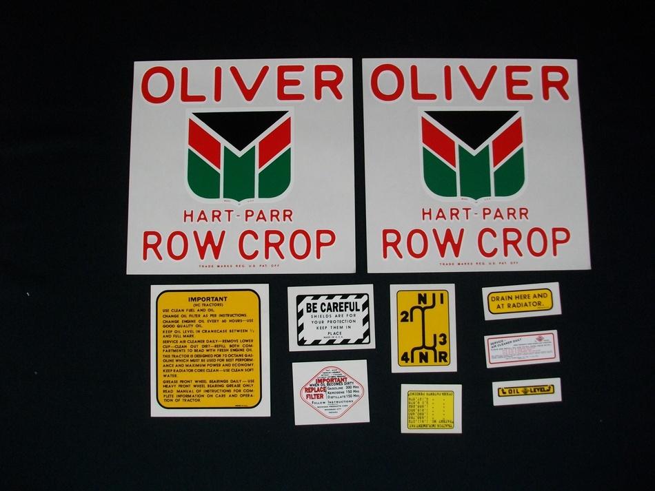 Oliver Hart Parr 70 Row Crop (Mylar Decal Set)