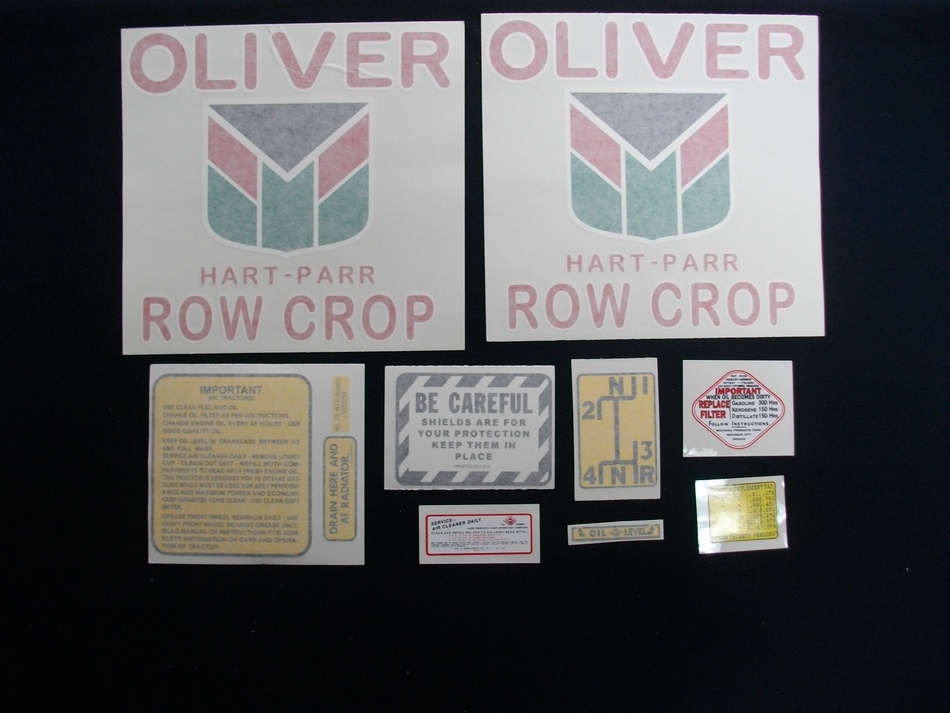 Oliver Hart Parr 70 Row Crop (Vinyl Decal Set)