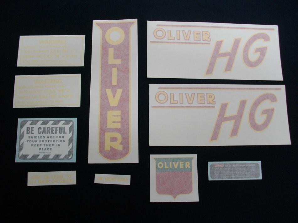 Oliver HG (Vinyl Decal Set)
