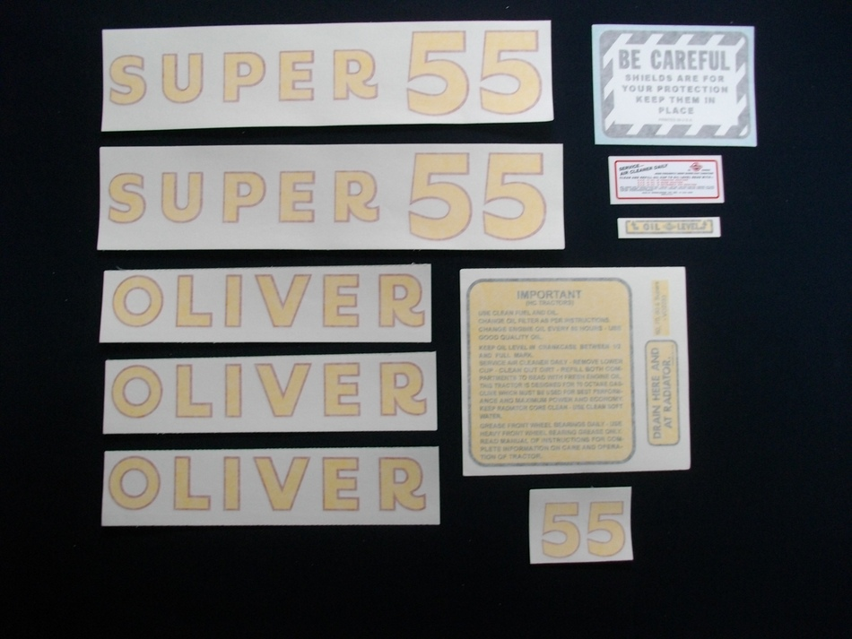 Oliver Super 55 (Vinyl Decal Set)