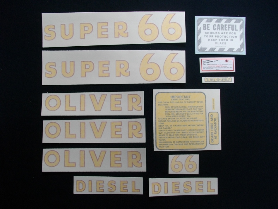 Super 66 Diesel (Vinyl Decal Set)