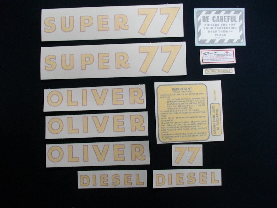 Super 77 Diesel (Vinyl Decal Set)