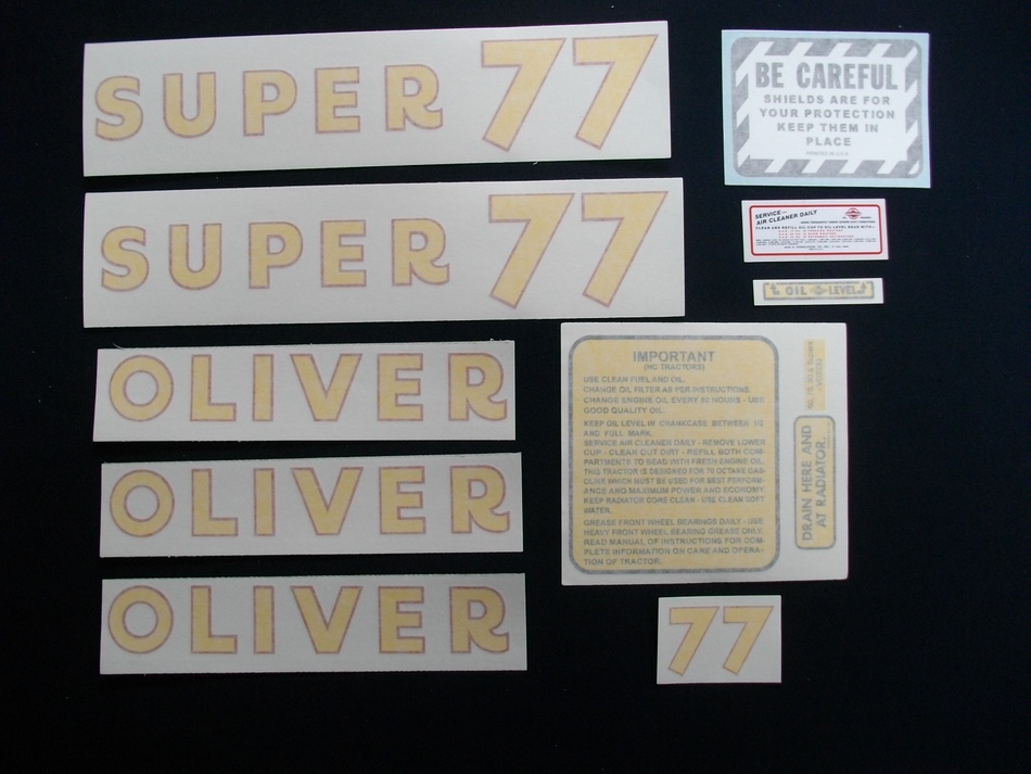 Super 77 Gas (Vinyl Decal Set)