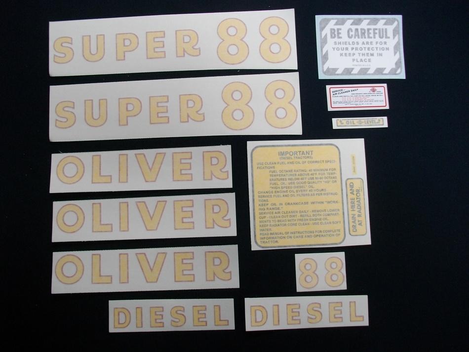 Super 88 Diesel (Vinyl Decal Set)