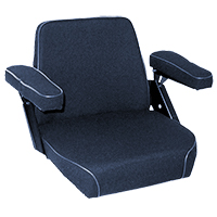 Seat Assembly Black Fabric on Steel