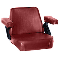 Seat Assembly Red Vinyl on Steel